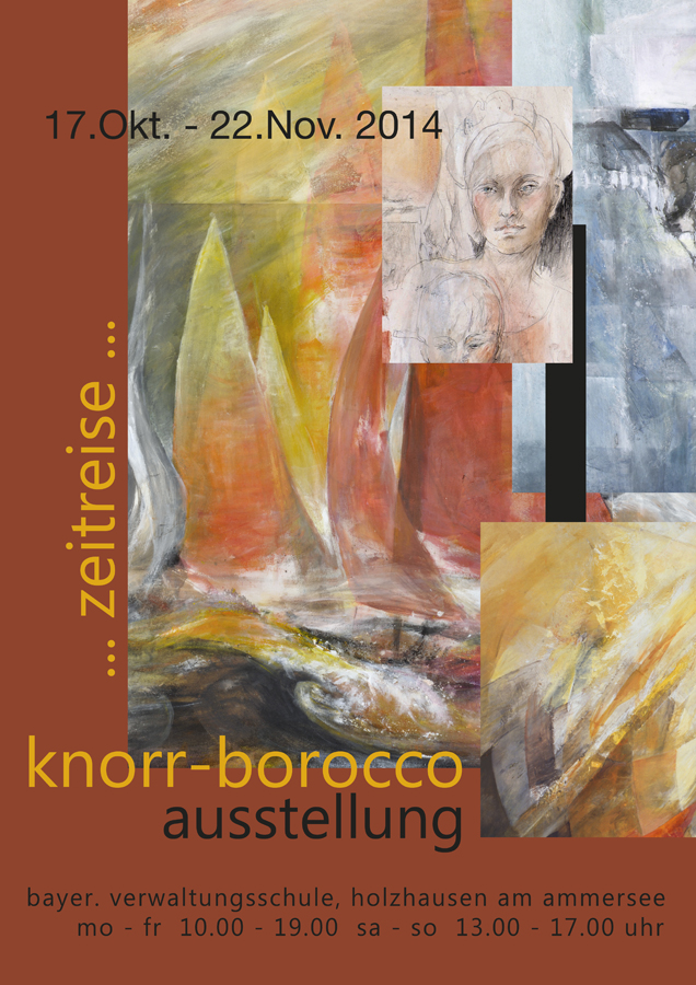 Grafikdesign - Plakat der Künstlerin Mica Knorr-Borocco