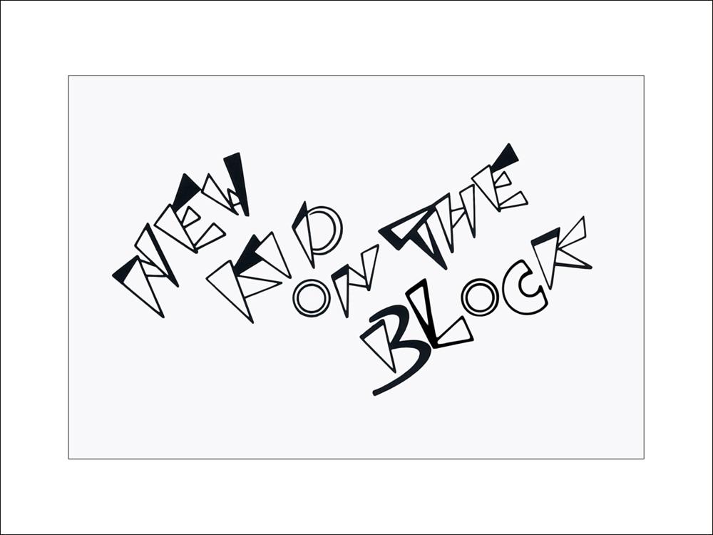 Keilschrift / Graffiti - Schriftgestaltung für Eigenwerbung